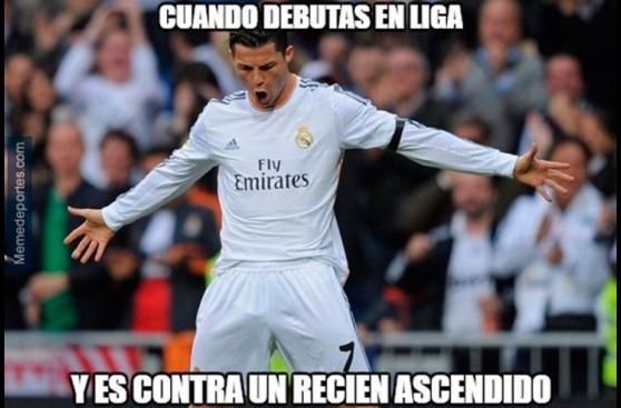Regreso de Cristiano en goleada de Real Madrid dejó estos memes