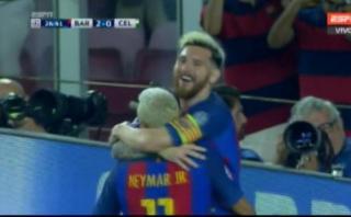 Lionel Messi y un golazo de 'Tiki-taka' con Neymar en Champions