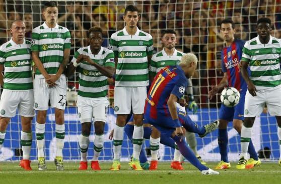 CUADROxCUADRO: el golazo de Neymar de tiro libre en Champions