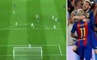 Barcelona: genial toma aérea del 'tiki-taka' de Messi y Neymar