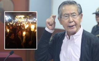 Simpatizantes de Fujimori realizaron vigilia frente a catedral