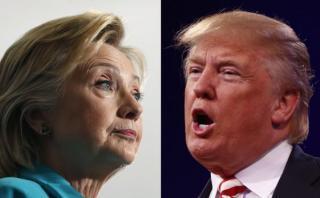 EE.UU.: Encuesta revela empate técnico entre Clinton y Trump