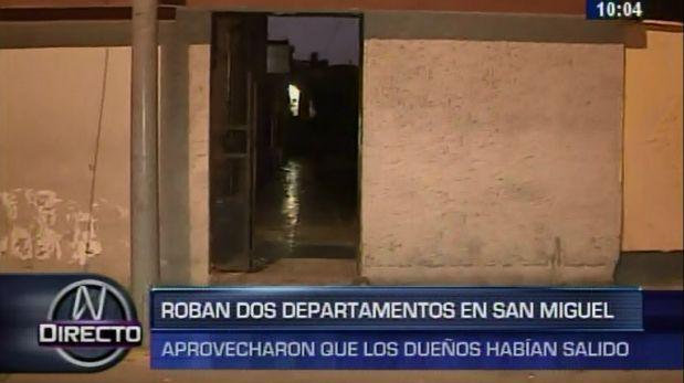 San Miguel: hampones roban 3 casas en una cuadra en 1 semana