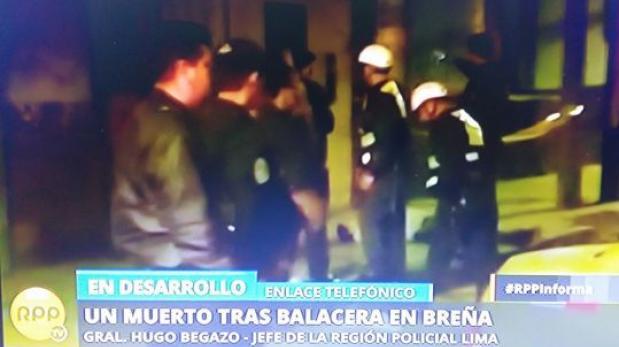 Breña: presunto 'raquetero' falleció durante balacera