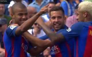 Barcelona: el golazo de Rafinha a lo Lionel Messi