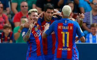 Barcelona aplastó 5-1 a Leganés con anotaciones de la 'MSN'