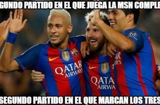 Los memes de la impresionante goleada del Barcelona [FOTOS]