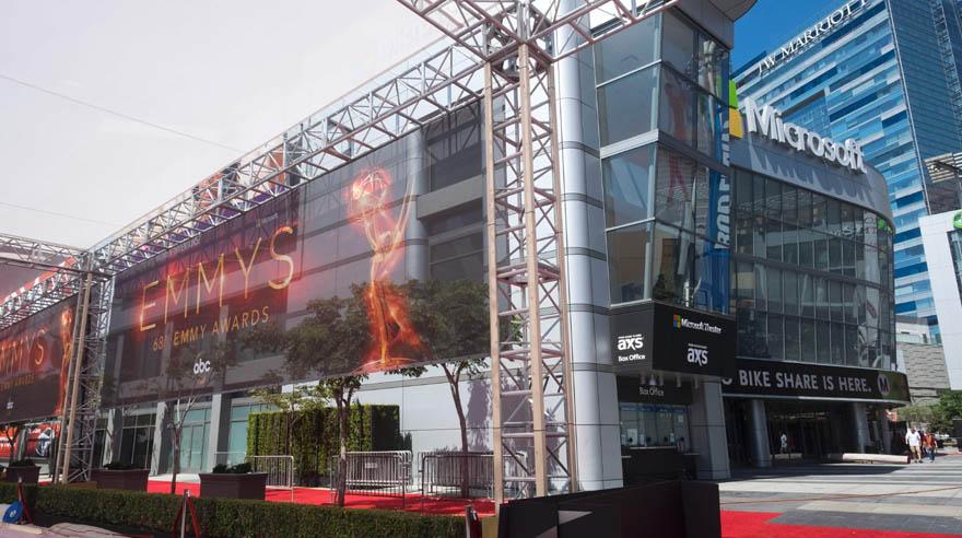 El Microsoft Theater lucía así un día antes de los Emmy 2016. (Foto: AFP)