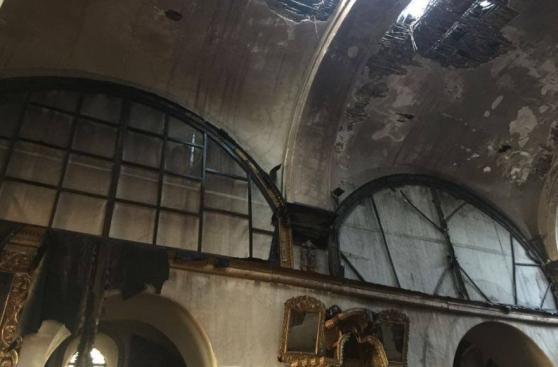 Conato de incendio se registró en iglesia de San Sebastián