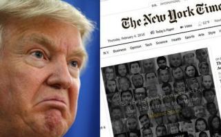 Trump amenaza con demandar al diario The New York Times