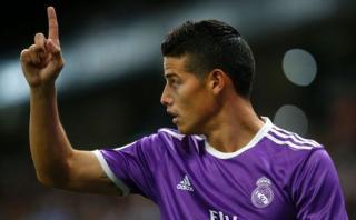 Real Madrid: James marcó golazo luego de superar a dos rivales