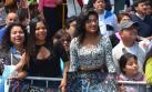 Jóvenes alentaron a postulante a San Marcos como unas fanáticas