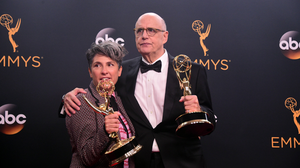 Jill Soloway y Jeffrey Tambor de