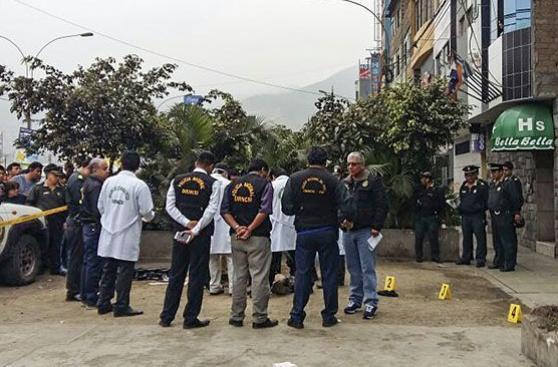 SMP: un muerto y un herido por ataque de sicario frente a bar