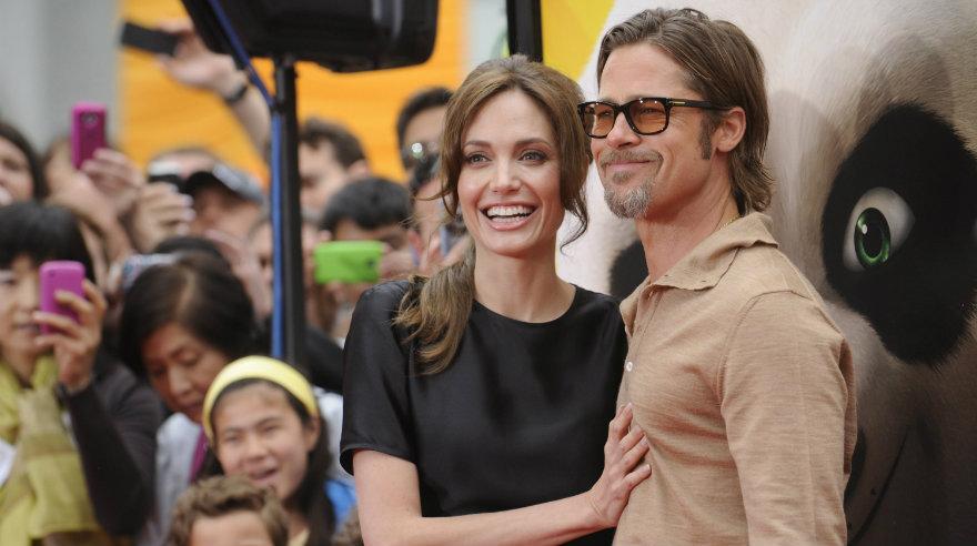 Pitt y Jolie muy felices en el 2011 durante el estreno de