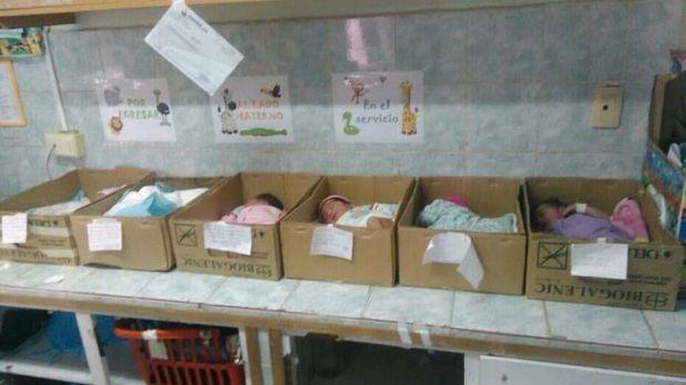 Venezuela: Bebés son puestos en cajas por falta de incubadoras