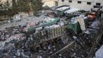 Así quedaron los camiones con ayuda bombardeados en Siria - Noticias de omar camino