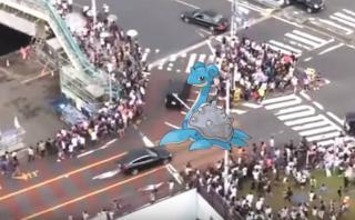Aparición de un pokemón Lapras generó alboroto en Tokio [VIDEO]