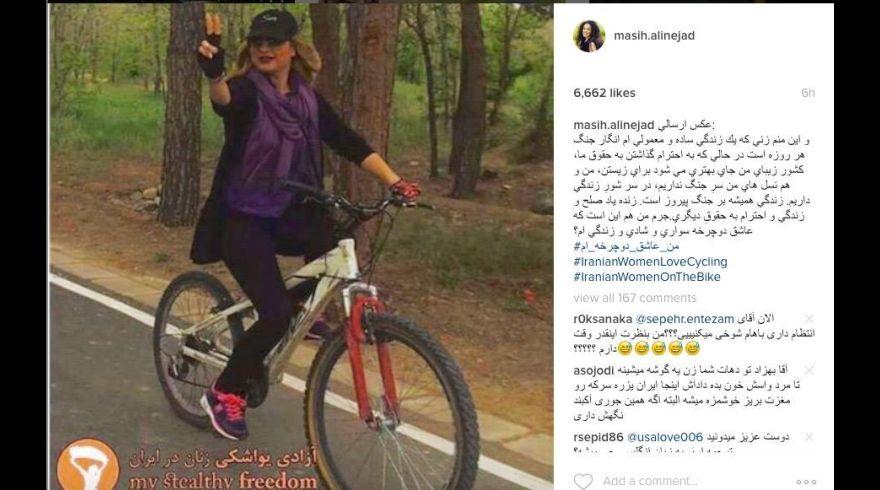 La lucha de las mujeres iraníes por montar en bicicleta