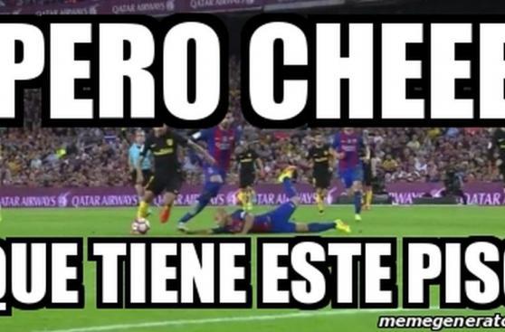 Barcelona: Mascherano se resbaló y ocasionó divertidos memes