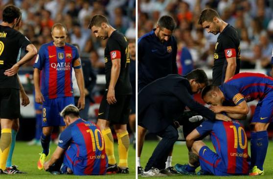 Lionel Messi: las imágenes del momento de su lesión [FOTOS]