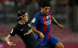 Luis Suárez respondió a Filipe Luis de manera contundente