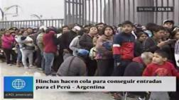 Perú vs. Argentina: cientos hacen cola para comprar entradas