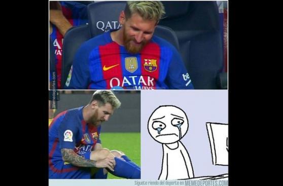 Lionel Messi: los mejores memes tras su lesión