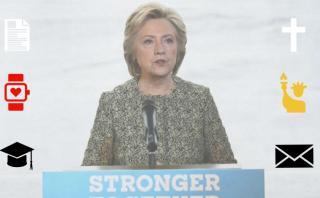 Edad, peso y religión: Hillary Clinton en una foto interactiva