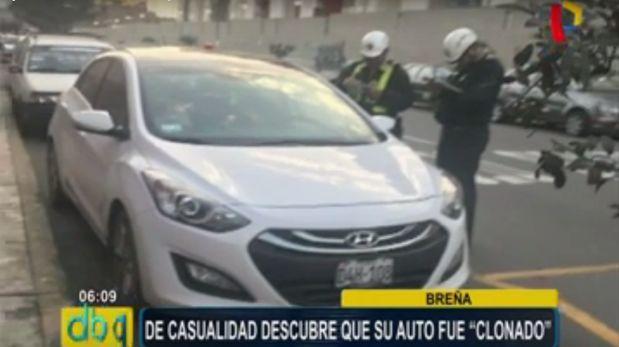 Pareja halló 'clon' de su vehículo y Policía libera a implicado