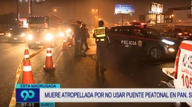 Surco: Mujer murió atropellada en la Panamericana Sur