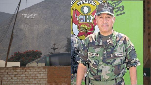 Nuevo jefe de Diroes hizo que pongan su nombre en cerro de Ate