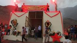 Comas: cuerpos de senderistas son paseados hasta mausoleo