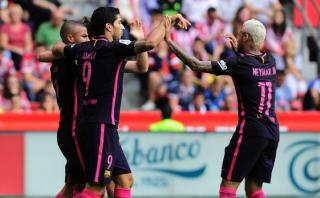 Barcelona goleó 5-0 al Sporting de Gijón con doblete de Neymar