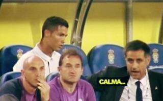 Cristiano Ronaldo y su reacción contra Zidane por ser cambiado