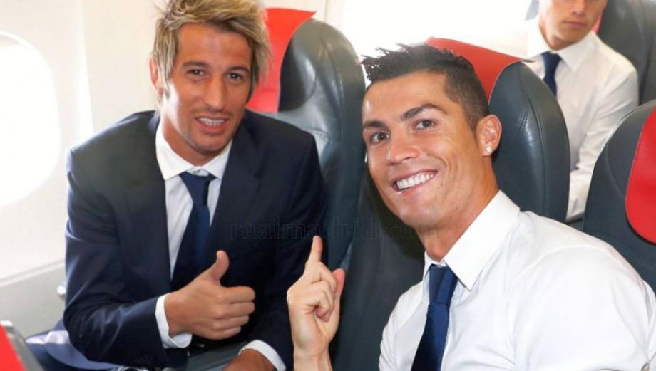 Real Madrid llegó a Alemania con un Cristiano Ronaldo sonriente
