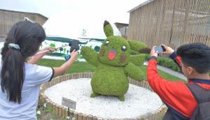 Surco instaló Pikachu elaborado con más de 8.500 plantas