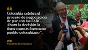 Acuerdo de paz en Colombia: Así opinaron los políticos peruanos