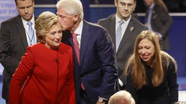 Así vivieron el debate las familias de Clinton y Trump [FOTOS]