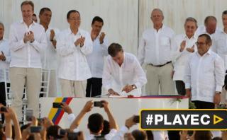 """Santos: """"Hay una guerra menos en el mundo y es la de Colombia"""""""