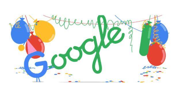 Google celebra sus 18 años con divertido 'doodle' de fiesta