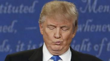 ¿Donald Trump estuvo resfriado durante el debate?