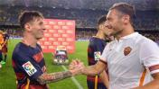 Lionel Messi felicitó a Francesco Totti por sus 40 años [VIDEO]