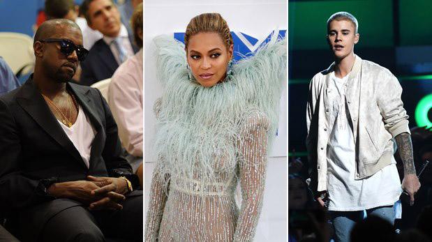 Kanye West, Beyoncé y Justin Bieber nominados a los MTV EMA 2016. (Fotos: Agencias)