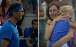 Rafael Nadal y el gesto con mujer que perdió a su hija [VIDEO]