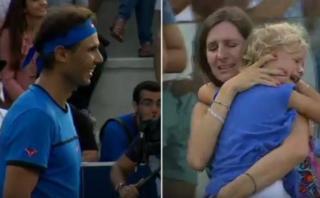 Rafael Nadal y el gesto con una mujer que extravió a su hija
