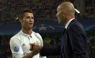 Cristiano Ronaldo y el saludo con Zidane luego del gol