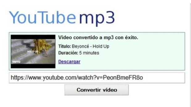 Para convertir el video tan sólo hace falta copiar y pegar el enlace en la barra de videos en YouTube MP3. (Foto: YouTube MP3)