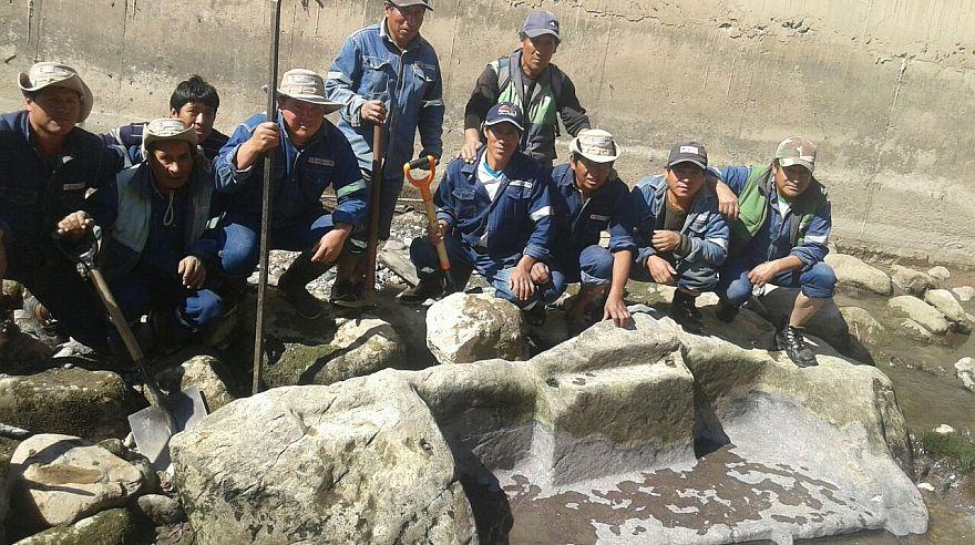 Los restos del altar ubicado en el Cusco se creían perdidos tras construcción de una vía en Ollantaytambo. (Difusión)