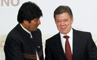 Colombia llamó tres veces para invitar a Evo a firma de paz